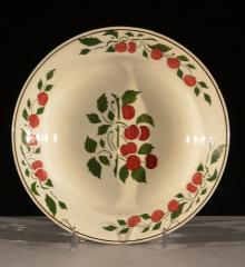 Bowl with Stenciled Cherries Decoration - A15773